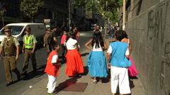 Kids dancing in the street Stock Footage