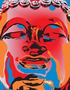 Popart buddha Stock Illustration