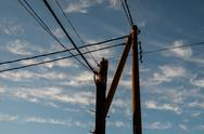 Stock Photo of telephone pole