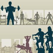 Gymnasium Stock Illustration
