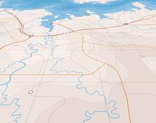 Angled map Stock Illustration