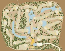 Golf course map Stock Illustration