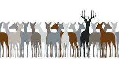 deer herd - stock illustration