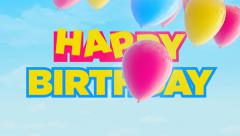 Birthday Balloons Stock Footage
