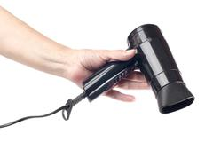 hand and hair drier - stock photo