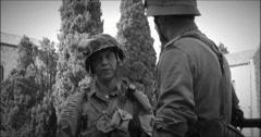 American german soldier black & white 21 Stock Footage