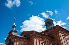 The dome of the orthodox church Stock Photos