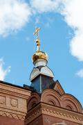 the dome of the orthodox church - stock photo