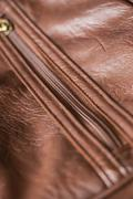 Zipper brown bag Stock Photos