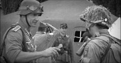 American german soldier black & white 22 Stock Footage
