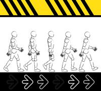 Man step walk - stock illustration