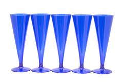 Blue goblet on white - stock photo