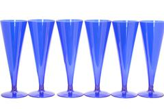 Blue goblet close up - stock photo