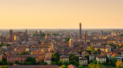 bologna skyline sunset to night zoom in - stock footage