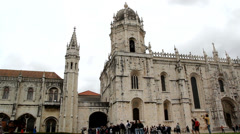 Jeronimos Monastery in Lisbon, Portugal. Stock Footage