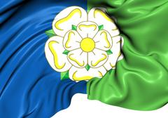 east riding of yorkshire flag - stock illustration