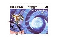Stock Photo of Cuban stamp close up