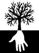 Tree of hands Stock Illustration