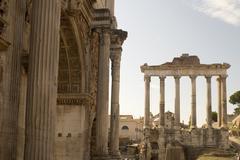 Column on roman forum Stock Photos
