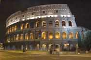 Stock Photo of Coliseum in the night