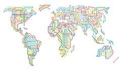 Subway world Stock Illustration