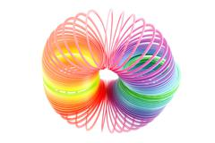 Stock Photo of spiral spring toy