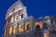 Stock Photo of Rome Coliseum close up
