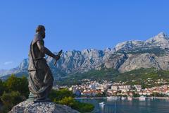 Statue of St. Peter at Makarska, Croatia - stock photo