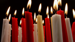 Red Candle Wax Melts Drips Zoom In Stock Footage