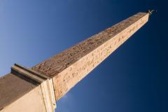 Stock Photo of Egyptian obelisk on blue sky