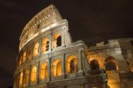 Stock Photo of Coliseum in Rome in night