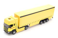 truck on white - stock photo