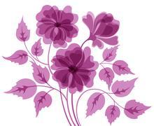 Colorful flower background - stock illustration