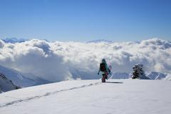 Freeride snowboarder Stock Photos