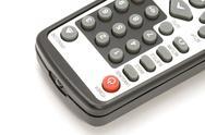 TV remote control macro Stock Photos