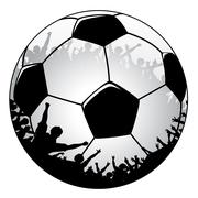 football crowd - stock illustration