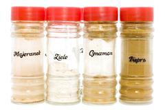 seasoning in jar - stock photo