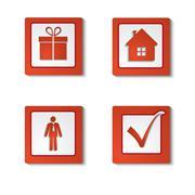 Set icons Stock Illustration