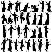 thai dancers - stock illustration