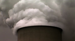 Cooling Tower nuclear power plant in Bavaria. Stock Footage