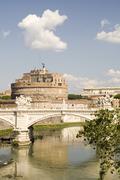 Bridge and Castle Sant Angelo - stock photo