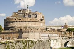 Castle St Angelo in Rome city Stock Photos