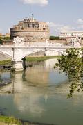 Castle Saint Angelo in Rome - stock photo