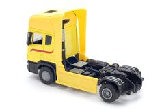 Yellow toy truck - stock photo