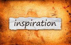 Inspiration title on piece of paper - stock photo