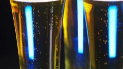 3 glasses of beer rotate Stock Footage