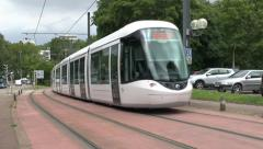Tram in Rouen, Seine-Maritime, France. Stock Footage