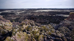 Jersey Coast At Low Tide Stock Footage