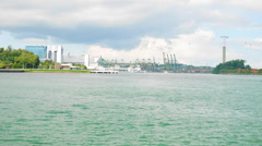 4k UHD time lapse video of waterfront at Labrador Park, Singapore(TL--SEA 2 Stock Footage