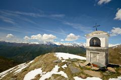 christianity on the summit - stock photo